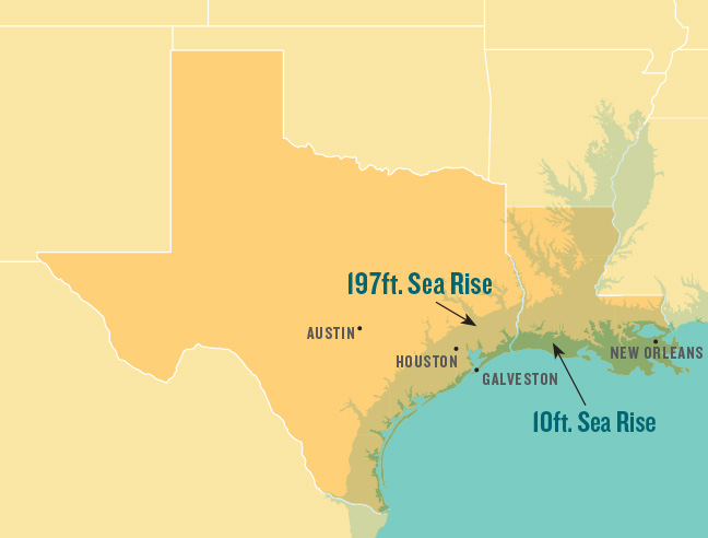 Alcalde Longform Underwater - New us map after sea level rise
