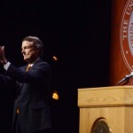 Powers Defends Soul of University in Annual Address