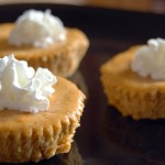 Cook 'em Horns Revisited: Mini Pumpkin Cheesecakes