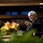 Gingrich Touts Value of Academic Research at LBJ Library