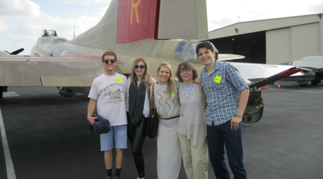 World War II Scholars Fly High in B-17 Bomber