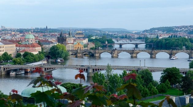 Prague and Vltava bridges
