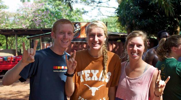Longhorns in Jinja Emily Peterson and Alexandra Johnson