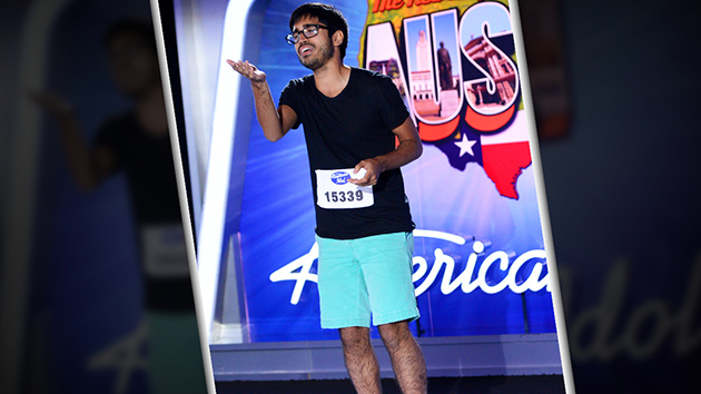 UT premed student Munfarid Zaidi impressed the judges during his audition for American Idol. Photo courtesy of American Idol
