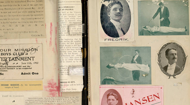 Ransom Center Offers A Look Inside Harry Houdini's Scrapbooks