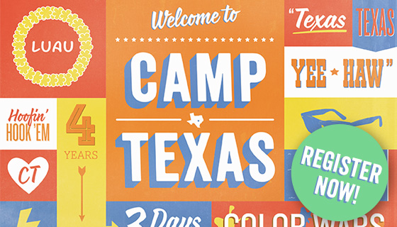 Register now for Camp Texas