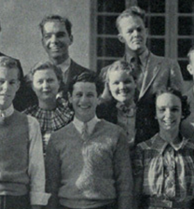 Eli Wallach, front center, in the 1935 Curtain Club yearbook photo.