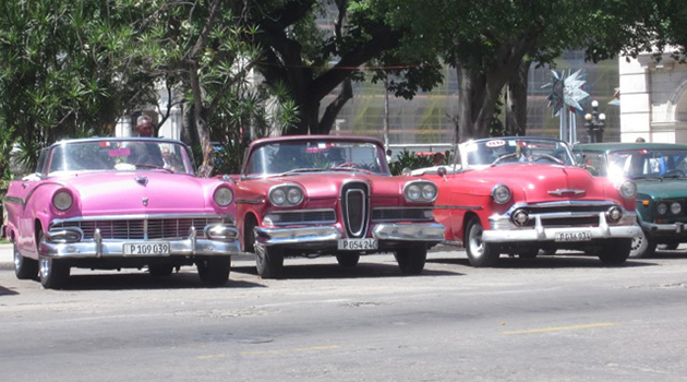 A-taxi-stand-in-Old-Havana.