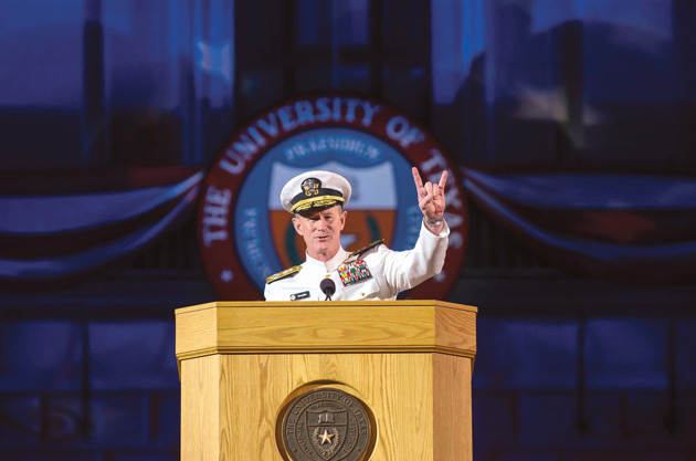 Commencement-2014_6696-McRaven-hook-'em-by-Marsha-Miller