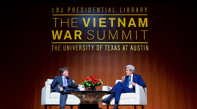 John Kerry Revisits Battle Days in Vietnam Summit Keynote