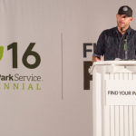 """AUSTIN, TX - MAY 03:  National Park Foundation celebrates National Park Service centennial and Find Your Park movement with kick off Park Exchange Event Series at The University of Texas at Austin with Andy Roddick on April 18, 2016 in Austin, Texas.  (Photo by Rick Kern/Getty Images for National Park Foundation )"""