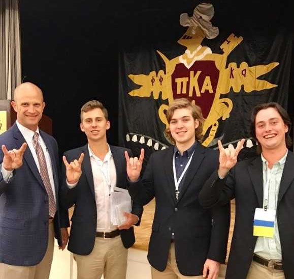 Uts pi kappa alpha chapter recognized at international pike put their horns up while attending the academy a bi annual leadership training for undergraduates hosted by the pi kappa alpha fraternity in memphis voltagebd Gallery