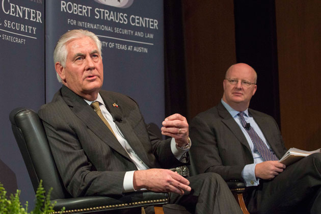 Secretary of State Tillerson Stops by UT Ahead of Latin America Tour